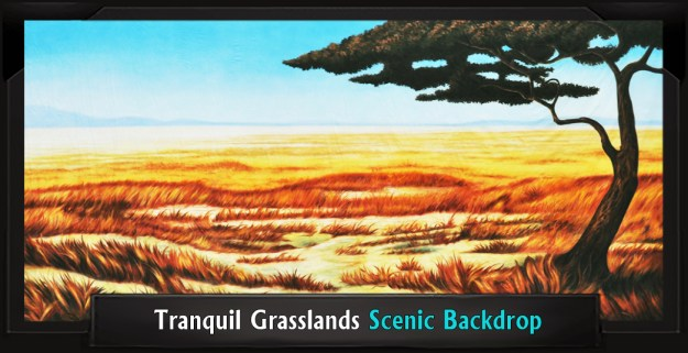 The Lion King Tranquil Grasslands Professional Scenic Backdrop