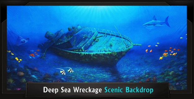 Deep Sea Wreckage Professional Scenic Little Mermaid Backdrop