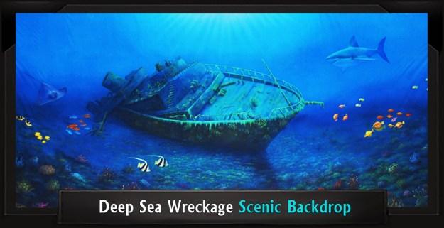 Deep Sea Wreckage Professional Scenic Little Mermaid Backdrop