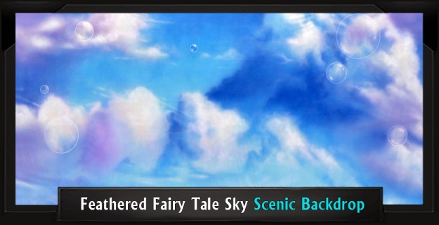 Feathered Fairy Tale Sky Professional Scenic Little Mermaid Backdrop