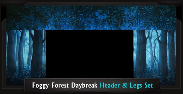 FOGGY FOREST DAYBREAK Professional Scenic Shrek Header and Legs Set
