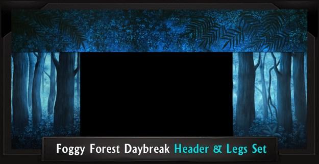 FOGGY FOREST DAYBREAK Professional Scenic Shrek Header and Legs Set