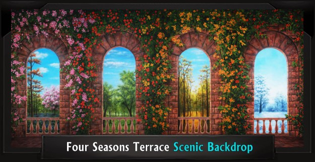 FOUR SEASONS TERRACE Professional Scenic Shrek Backdrop