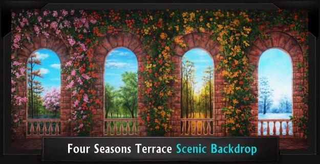 FOUR SEASONS TERRACE Professional Scenic Shrek Backdrop