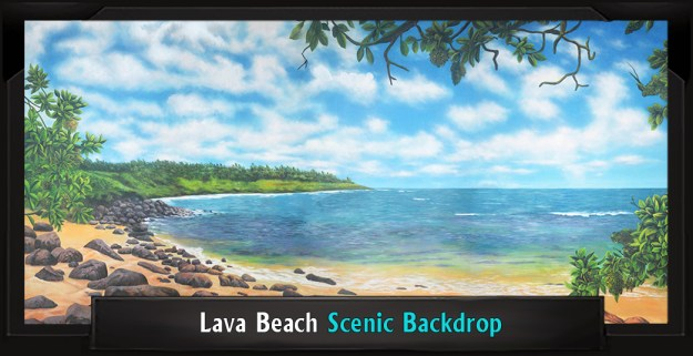 Lava Beach Professional Scenic Little Mermaid Backdrop