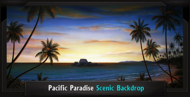 Pacific Paradise Professional Scenic Little Mermaid Backdrop