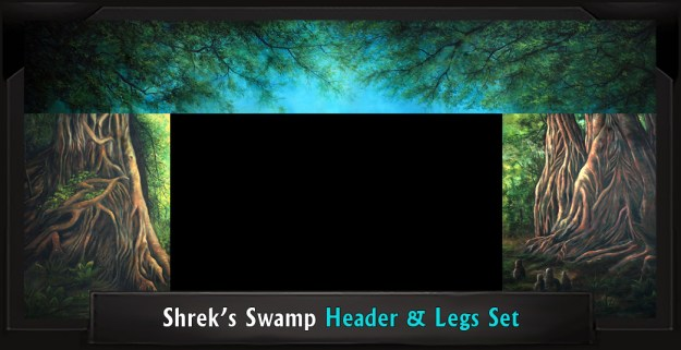 SHREK'S SWAMP Professional Scenic Header and Legs, Shrek