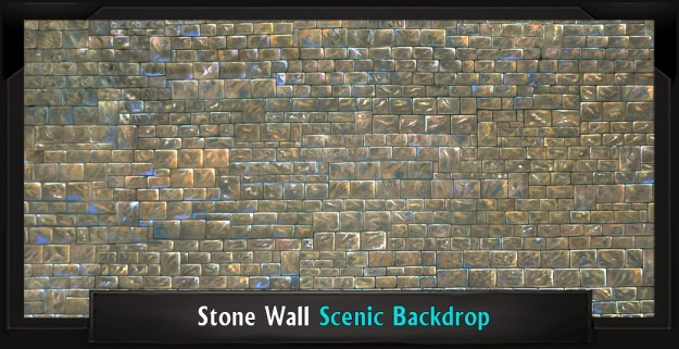 STONE WALL Professional Scenic Addams Family Backdrop