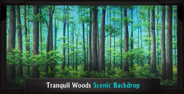TRANQUIL WOODS Professional Scenic Shrek Backdrop