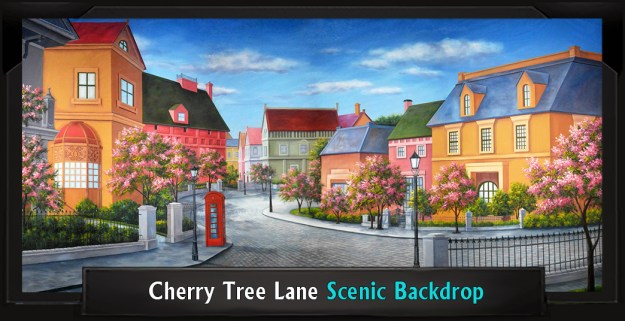 Cherry Tree Lane Professional Scenic Mary Poppins Backdrop