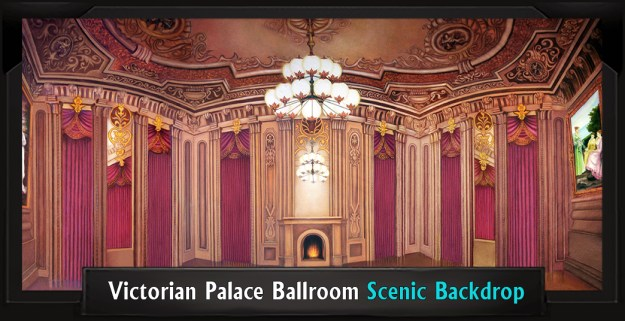 Victorian Palace Ballroom Professional Scenic Addams Family Backdrop