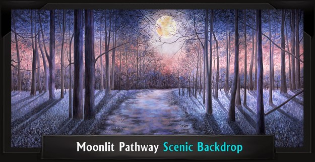 Moonlit Pathway Professional Scenic Secret Garden Backdrop
