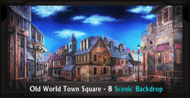 Old World Town Square B Professional Scenic Sweeney Todd Backdrop