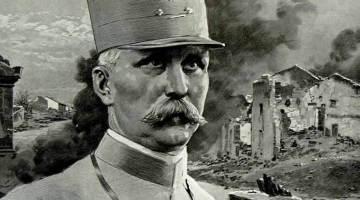 """Illustration du général Pétain parue dans le journal britannique """"The Sphere"""" du 18 mars 1916."""