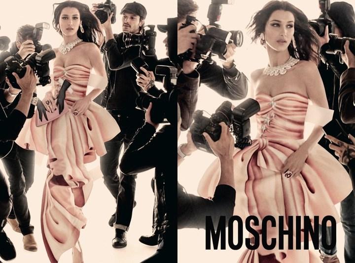 Le Hadid paper dolls per Moschino