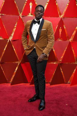Daniel Kaluuya in Brunello Cucinelli agli Oscars 2018, LA