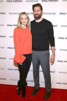 Emily Blunt in Roksanda e John Krasinski alla 'Final Portrait' Screening, New York
