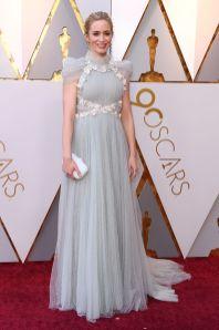 Emily Blunt in Schiaparelli agli Oscars 2018, LA