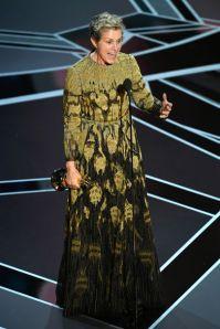 Frances McDormand agli Oscars 2018, LA