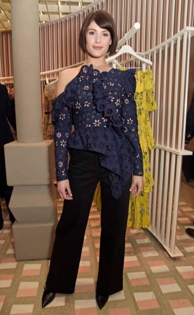 Gemma Arternton in Self-Portrait al Self-Portrait Store Opening, London