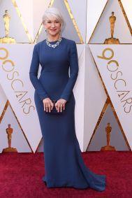 Helen MIrren in Reem Acra agli Oscars 2018, LA
