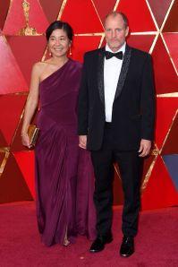 Laura Louie e Woody Harrelson agli Oscars 2018, LA