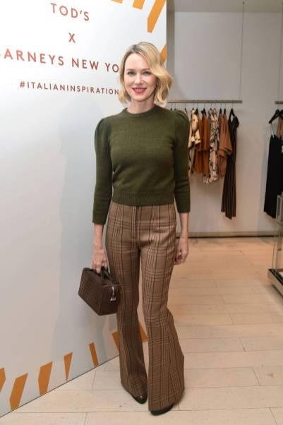 Naomi Watts in Tod's al Tod's x Barneys New York Launch, New York