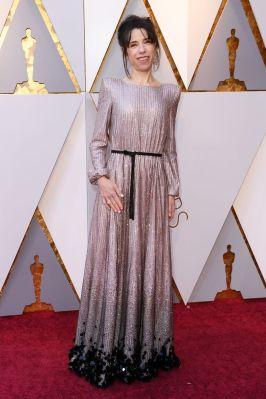 Sally Hawkins in Armaniu PRivè agli Oscars 2018, LA
