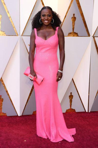 Viola Davis in Michael Kors agli Oscars 2018, LA
