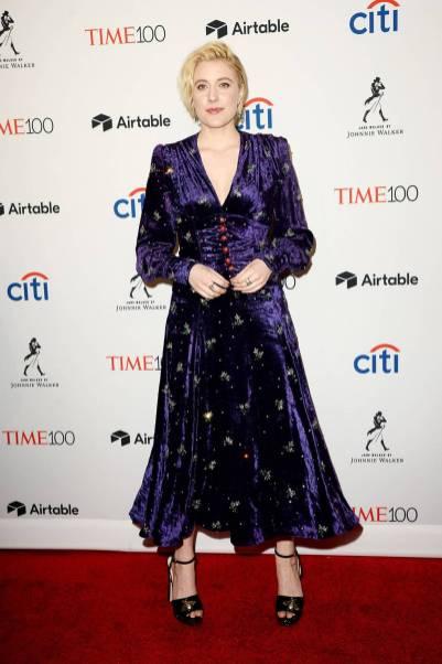 Greta Gerwig in Gucci al Time 100 Gala, New York