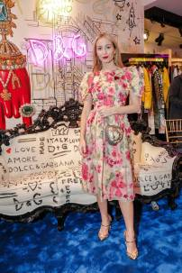 Harley Viera-Newton in Dolce and Gabbana al Dolce and Gabbana Mercer Street store opening, New York