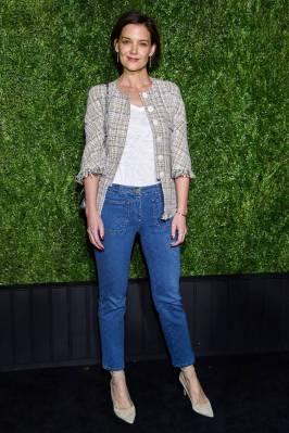 Katie Holmes in Chanel al Chanel Tribeca Film Festival artists dinner, New York