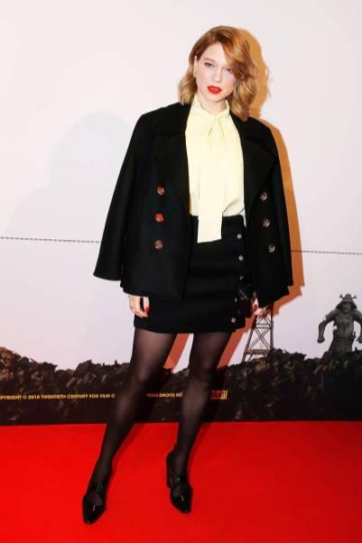 Lea Seydoux in Louis Vuitton all''Isle of Dogs' premiere, Paris