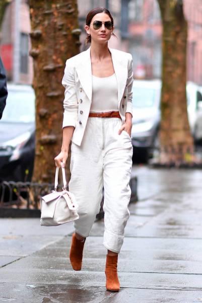 Lily Aldridge in Isabel Marant e Givenchy, NY