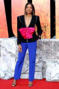 Naomie Harris in Gucci alla premiere of Rampage, London