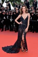 Alessandra Ambrosio in Roberto Cavalli alla 'Solo A Star Wars Story' premiere, Cannes Film Festival