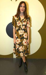Alexa Chung in Orla Kiely al Fashion and Textile Museum, London