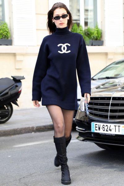 Bella Hadid in Chanel, Paris.