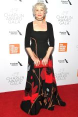 Helen Mirren in Valentino ai Chaplin Award Gala, New York.