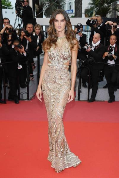 Izabel Goulart in Zuhair Murad al Cannes Film Festival