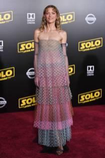 Jaime King in Schiaparelli alla 'Solo A Star Wars Story' premiere, Los Angeles