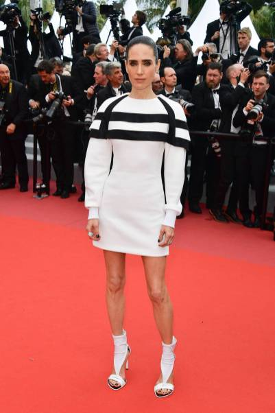 Jennifer Connelly in Louis Vuitton alla 'Solo A Star Wars Story' premiere, Cannes Film Festival