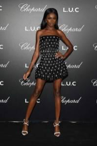 Leomie Anderson al Chopard Gentleman's Night, Cannes Film Festival