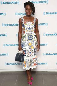 Lupita Nyong'o in Dolce & Gabbana ai SiriusXM Studios, New York