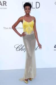 Maria Borges in Roberto Cavalli Couture all'amfAR gala, Cannes Film Festival