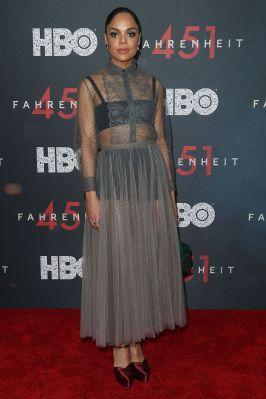 Tessa Thompson in Christian Dior alla premiere of Farenheit 451, NY