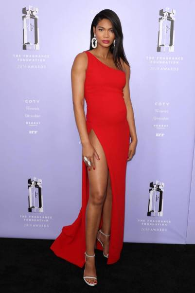 Chanel Iman in Romona Keveza ai ai Fragrance Foundation Awards, New York