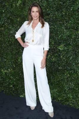 Cindy Crawford in Chanel al Chanel dinner, Malibu