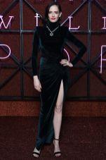 Eva Green con gioielli Bulgari e sandali Jimmy Choo alla Bulgari dinner and party, Rome