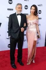 George Clooney e Amal Clooney in Prada al AFI Life Achievement Award, Los Angeles